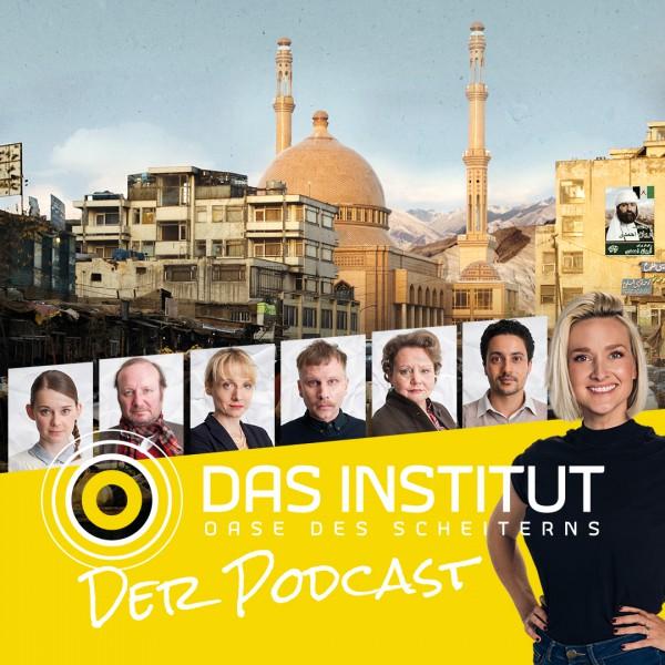 Titel: Das Institut - Oase des Scheiterns; Untertitel: Ein investigativer Podcast aus Kisbekistan;